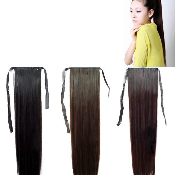 Natural-and-Smooth-Ponytail-Long-Straight-Hair-Piece-wig-Hairpiece
