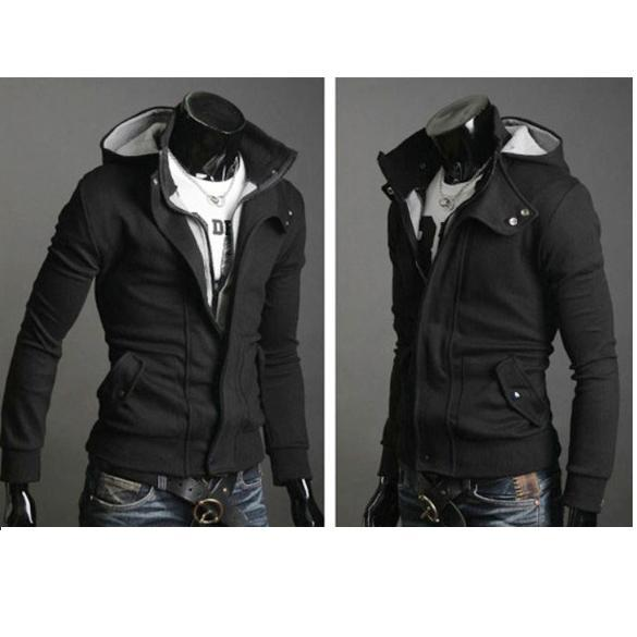 Brand-New-Mens-Slim-Top-Designed-Sexy-Hoody-Jacket-Coat-Two-Color-Three-Size