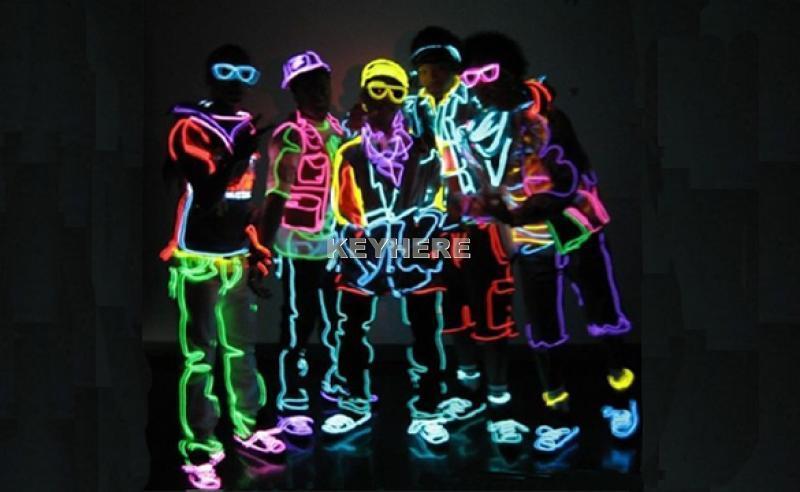 1M Flexible Neon Light Glow EL Wire Car Party Pink New