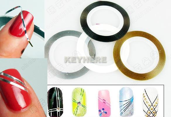 Как сделать полоски на ногтях на гель лаке 372