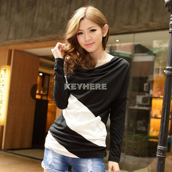 New-Women-039-s-Batwing-Long-Sleeve-Cotton-T-shirt-Tops-amp-Blouses-Beautiful-3-Colors