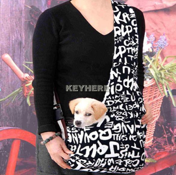 Strip Sling Pet Dog Cat Tote Single Shoulder Bag Carrier Durable