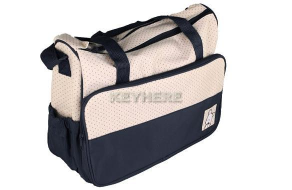 Features.  5PC Multi Function Super Large Baby Diaper Tote Shoulder Bag.